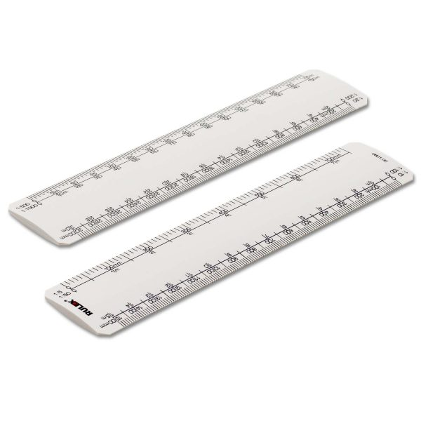 150mm Rulex engineers oval scale ruler