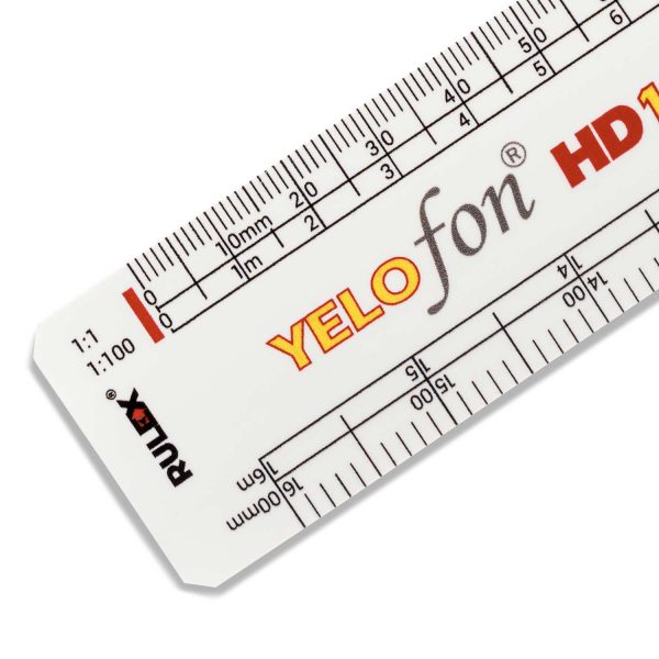 Rulex 300mm flat oval promotional scale ruler