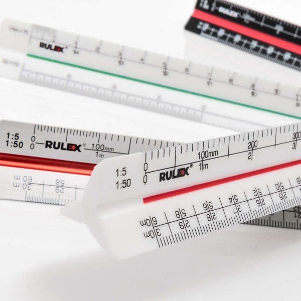300mm Rulex triangular scale rulers - promotional
