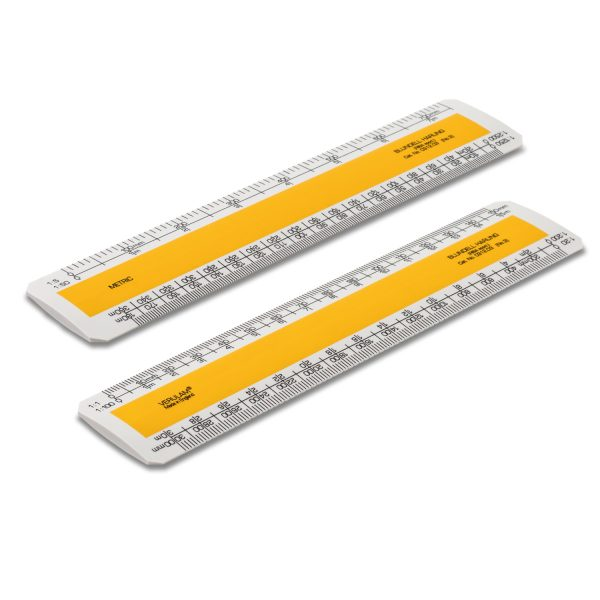 Scale ruler with yellow strip