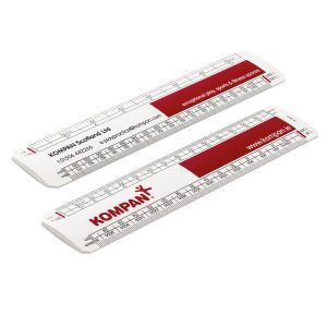 printed scale ruler
