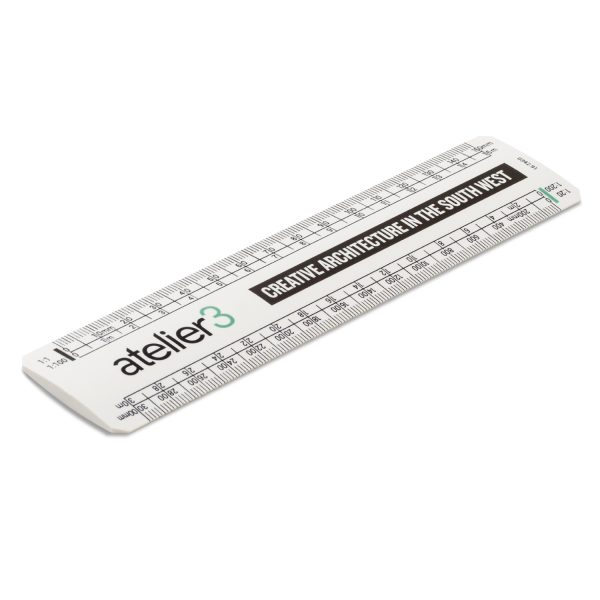 15cm scale ruler with printed logo