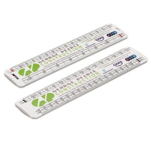 Scale ruler with logo